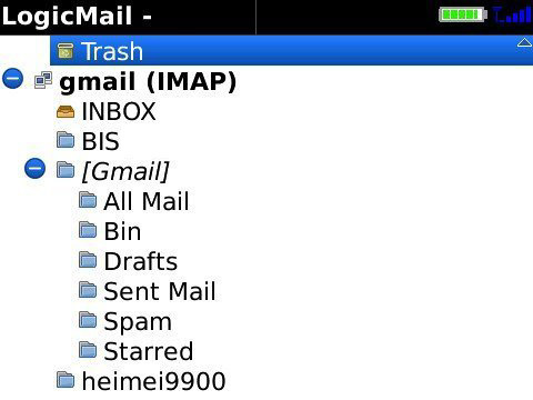 LogicMail v2.0.0.288 for BlackBerry os4.6 apps