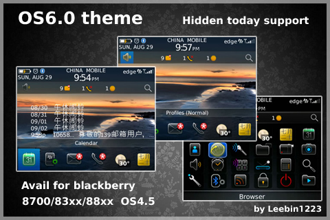 OS6.0 style hidden today themes for 83xx,88xx os4.5 themes