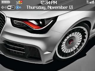 Audi A1 Clubsport quattro themes for blackberry c