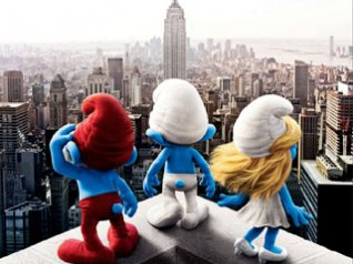 The Smurfs(2011) wallpapers for blackberry 9550