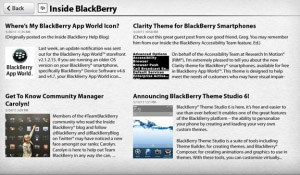 BlackBerry News App for PlayBook