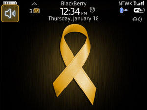 Gold Ribbon (Child Cancer) PREMIUM Theme