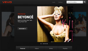 VEVO v2.0.0 for blackberry playbook applications