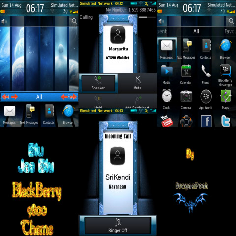blackberry torch 9800 free themes