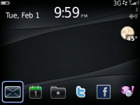 OS6 hidden today for blackberry 9300 3G themes fr