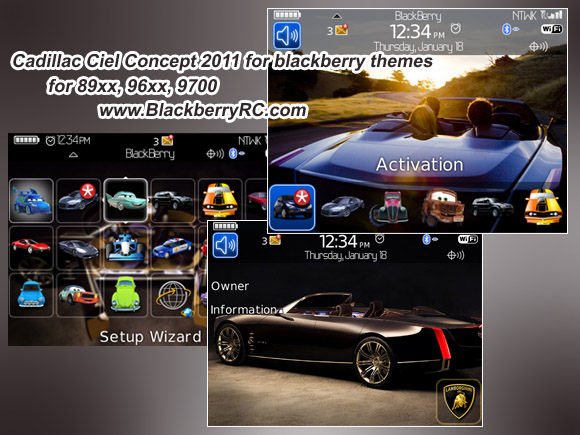 Cadillac Ciel Concept 2011 for 89xx theme os4.6.1