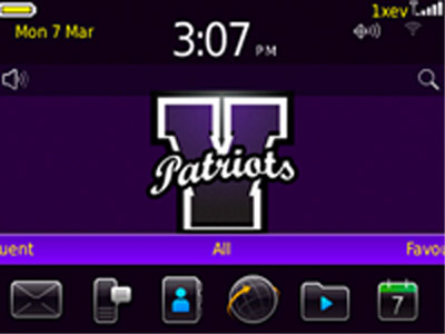Rivet Patriots for blackberry 9300 os6.0 themes