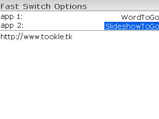 Fast Switch v0.1 for blackberry applications