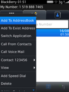 ContactExt v1.0.0 for blackberry os5.0 apps