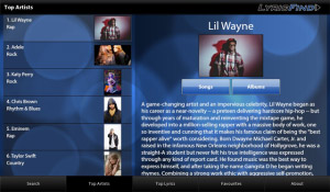 LyricFind v1.0 for playbook applications