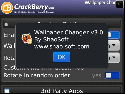 CrackBerry Wallpaper Changer Pro v3.0