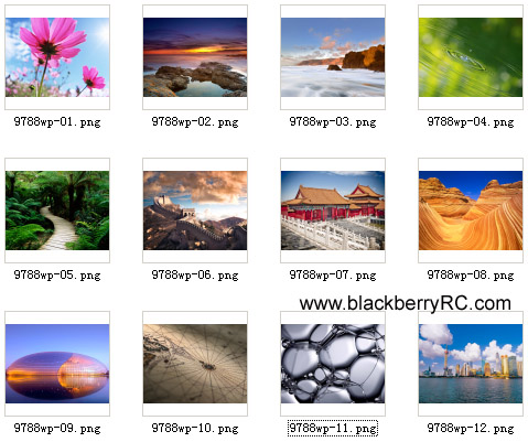 Blackberry Bold 9788(os6.0) system wallpaper pack