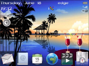 Beach Getaway os4.6+ Theme for BlackBerry