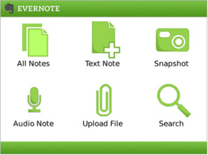 free Evernote v3.2.324 for bb os5.0 apps