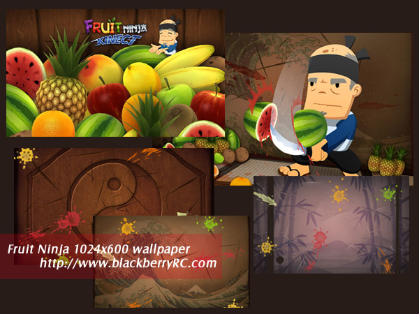 Fruit Ninja 1024x600 wallpaper for blackberry pla