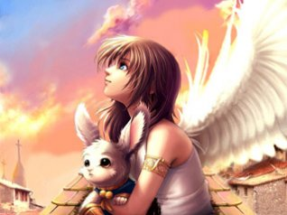 Angel girl for blackberry 9810 wallpaper