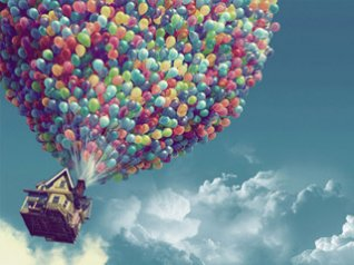 Balloons and room blackberry 9980 wallpaper