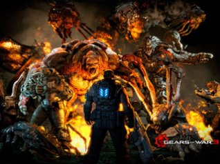 Gears of War 3 - blackberry 9300 wallpapers