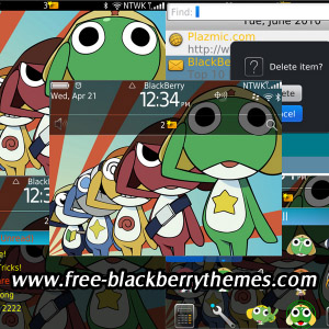 KERORO theme for blackberry 9650,9700,9780 os6.0
