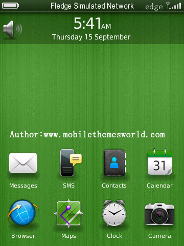 simple os7.0 icons Storm Themes for blackberry 95xx os5.0