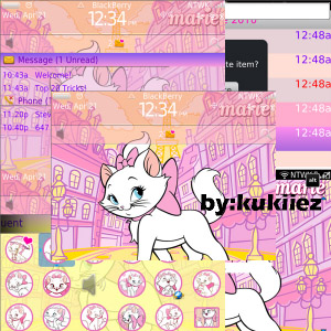free Marie Cat pink themes for 8900,96xx,9700 os5.0