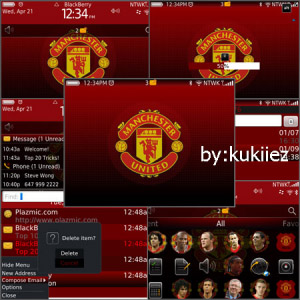 MAN UTD zen theme for blackberry 9650,9700,9780 o