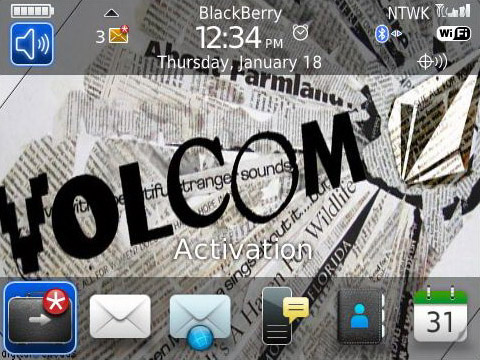 Volcom os7 icon for blackberry 89xx, 96xx, 9700 themes