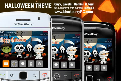 Halloween Theme for BlackBerry 8900,9630,9700 onyx os5.0