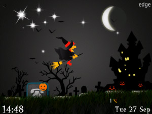 Flying Witch v1.0 - Halloween ( Animated Themes )
