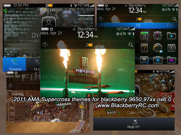 2011 AMA Supercross themes for blackberry 9650,97