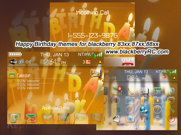 Happy Birthday themes for blackberry 83xx,87xx,88xx