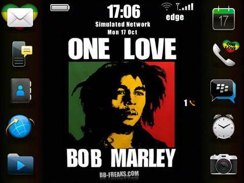 OneLove Bob Marley os6 icons for bb 89xx theme os4.6