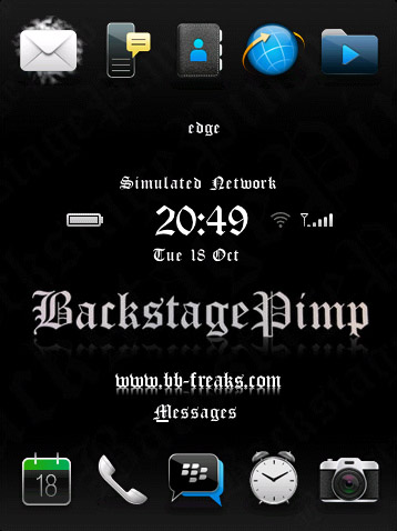 BackStagePimp for blackberry storm 95xx themes os5.0