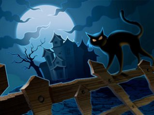 Halloween - cat 320x240 wallpaper