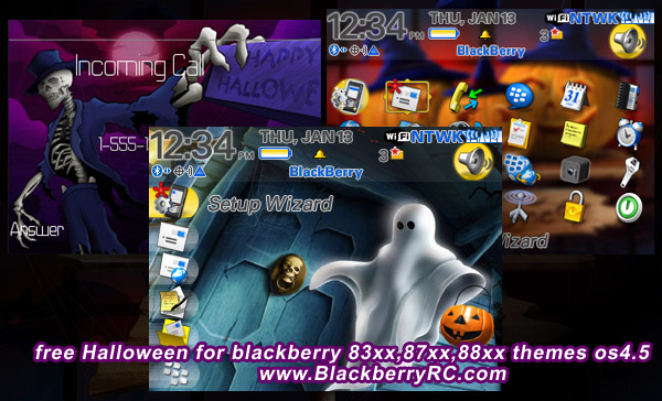 free Halloween for blackberry 83xx,88xx themes os4.5