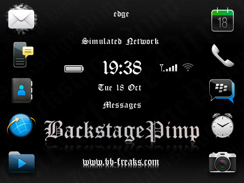 FREE BackStagePimp for bb 9100,9105 themes os6