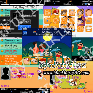 Crayon Shin-chan for blackberry 8520 themes