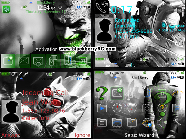 free Batman Foes themes for Blackberry 8520 os5.0