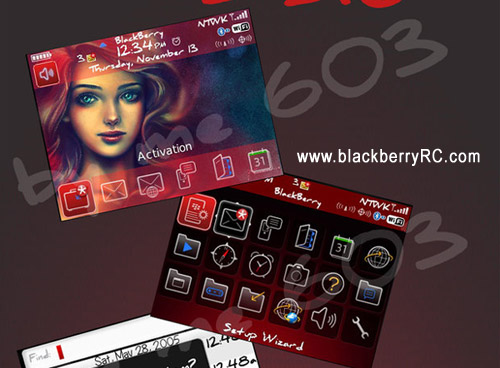 Red Mermaid skin themes for blackberry 8520 os5.0