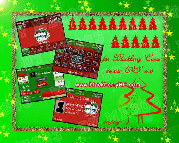 <b>Happy Christmas theme for blackberry 8520,9300 th</b>