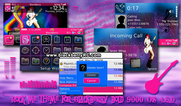 Beautiful Rock theme for blackberry bold os4.6 model