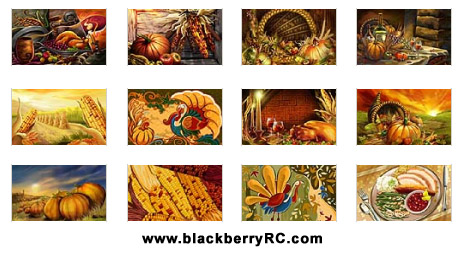 Happy Thanksgiving day for playbook 1024x600 wallpaper pack