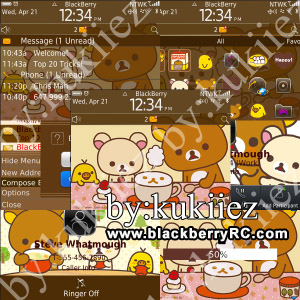 Rilakkuma themes for blackberry 8530 theme os5.0