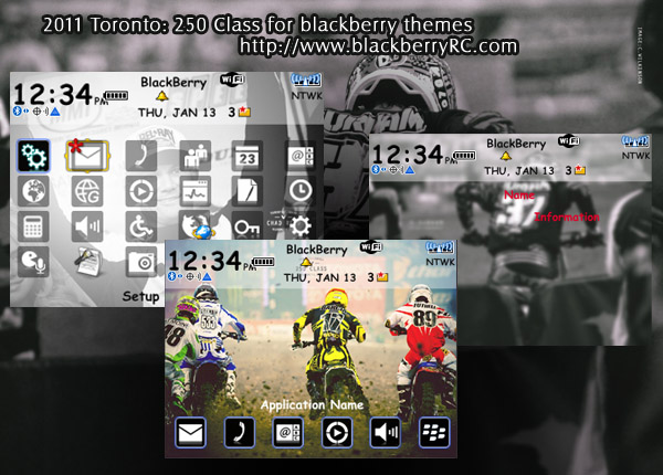 2011 Toronto: 250 Class for blackberry 83xx os4.5 zen themes