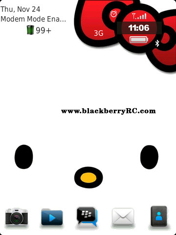 free Hello Kitty 9800 themes for blackberry torch