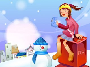 Cartoon christmas girls 640x480 wallpapers