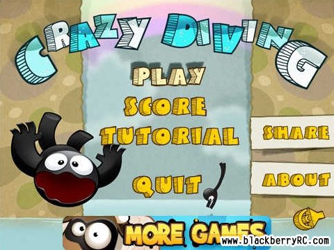 Crazy Diving v1.0.1 for blackberry games(480x360)