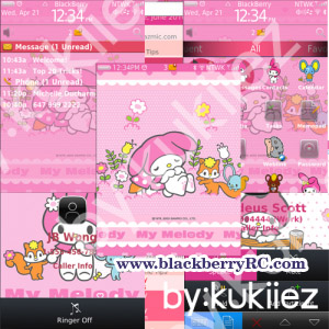 My Melody (マイメロディ) for blackberry 9800 themes