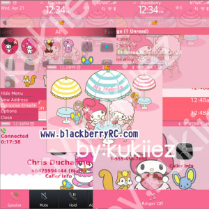 My Melody (マイメロディ) for bb 9650,97xx themes os6.0