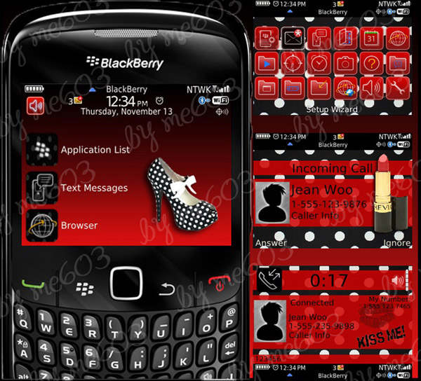 Red Shoes Polka Dot for bb 8520,9300 curve theme